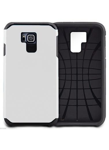 Microsonic Slim Fit Dual Layer Armor Galaxy Alpha Kılıf Beyaz Renkli